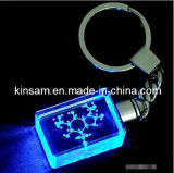 Laser-Incisione Keychain di cristallo del regalo del ricordo con l'indicatore luminoso del LED (KS23101)