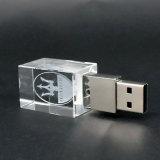 movimentação de cristal do flash do USB da impressão do logotipo 3D (UL-C005)