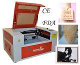 Máquina de gravura pequena do laser do tamanho para o frasco com giratório