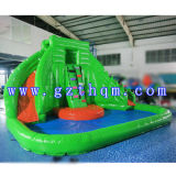 PoolまたはInflatable PVC SlideとのAdultのための商業Giant Inflatable Water Slide