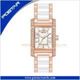 Relógio cerâmico luxuoso de quartzo do projeto elegante para senhoras