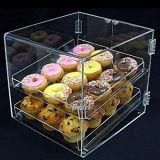 Boîte de présentation acrylique posée de gâteau, étalage de gâteaux de position
