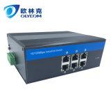 6UTP는 외부 전력 공급 산업 이더네트 네트워크 스위치 단식한다