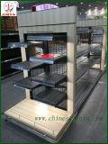 Estante de exhibición echado a un lado doble de madera del uso comercial (JT-A30)