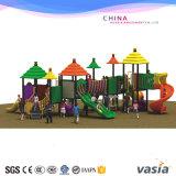 Equipamento plástico da corrediça do campo de jogos ao ar livre das crianças para a venda quente