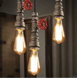 산업 Steam Punk Style Iron Pipe Pendant Lamp Light
