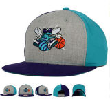 A equipa de basquetebol nova de Hip-Hop do bordado do projeto 3D da forma ostenta o tampão do chapéu do Snapback
