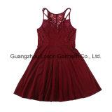 Frauen-Form-Kleid-Dame-Fleck-Kleid