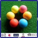 Bille de golf personnalisée deux par couches bon marché de bille