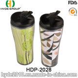 Clásico de papel de pared plástica taza de café taza de viaje (HDP-2028)