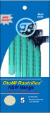 Твиновская ось головное Diposable сини 2 лезвия брея бритву (JG-T805)
