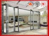 Puerta de calidad superior del aluminio/de aluminio del BI de plegamiento