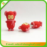 Горячий USB Flash Drive Sale 3D Rubber Customized Logo (SLF-RU009)