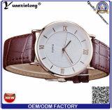 Vigilanza casuale della mano di retro del quarzo di disegno degli uomini Yxl-847 2016 moda di cuoio della vigilanza per la fabbrica dell'orologio della Cina del regalo