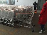 Carrello a quattro ruote di acquisto del supermercato del metallo di alta qualità
