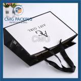Sac de papier d'achats décoratifs avec le traitement (DM-GPBB-098)