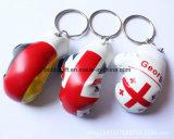 ゴムかLeather Keychain、Promotion GiftsのためのFashion PVC Key Chain