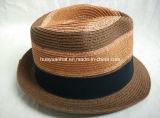 서류상 끈목 꿰매어진 끈목 중절모 밀짚 모자