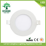 2015 Novo design Popular 6W LED Flat Panel Light 85-265V