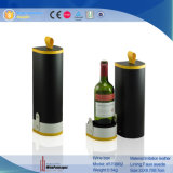 Boîte-cadeau de vin de cuir de premier niveau de 2 bouteilles (5898R2)