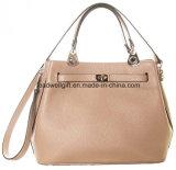 고전적인 핸드백 PU 은 기계설비를 가진 가죽 여자 끈달린 가방