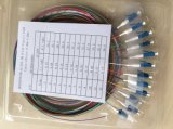 Nivel 0.9m m de la telecomunicación 2.0m m 3.0m m coleta óptica de la fibra del LC Upc de 12 estándares