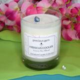 Venta al por mayor de cristal perfumada de la vela del tarro de la fruta decorativa