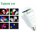 4W Snowflake RGB Holiday Light voor Christmas Hallowmas
