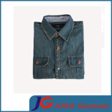 Rétro Slim Leisure Denim Shirt pour Man (JC7047)