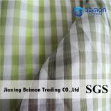 10.5mm 25%Silk 75%の綿の糸は肋骨停止デザインのファブリックを染めた