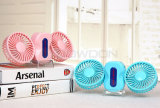 LEDとの360度のRotation Mini Handheld Portable Couple Fan USB Rechargeable Desktop Fan