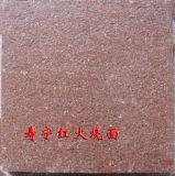 Пылаемые красные гранит порфиры и камень гранита вымощая