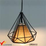 천장 포도 수확 금속 감금소 펀던트 램프