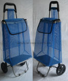 Chariot pliable à achats avec le tissu de maille net pour des légumes de supermarché