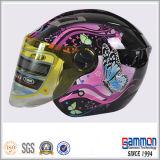 차가운 스쿠터 또는 모터바이크 또는 기관자전차 열리는 마스크 헬멧 (OP203가)