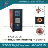 Het Verwarmen van de Inductie van de hoge Frequentie Machine 25kw 30-100kHz Spg50K-25
