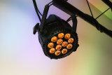 Van de Waterdichte LEIDENE van Ce Arrproved van Rasha IP65 het UV LEIDENE Projector 12*18W 6in1 Rgbaw van het PARI Licht van het PARI voor de OpenluchtPartij van het Huwelijk