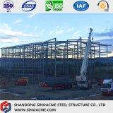 Construction commerciale préfabriquée de bâti en acier pour le magasin au détail