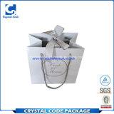 Logotipo feito sob encomenda saco de papel de empacotamento impresso do casamento do presente