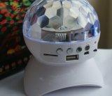 実行中の可動装置LEDの軽い水晶魔法の球のBluetoothのスピーカーボックス
