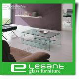 [رووند كرنر] طاولة زجاجيّة مركزيّ في لون رماديّ