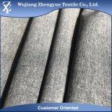 tessuto grigio di colore del Melange del catione di stirata di modo di Elastane 4 del poliestere 100d per l'indumento dei pantaloni del vestito