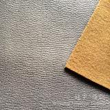 3 couches de polyester de tissu en cuir micro de suède avec le support