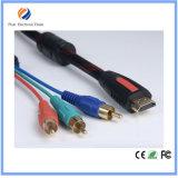 3 RCA 오디오 영상 보조 AV 변환기 접합기 케이블에 HDMI