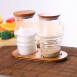 Western Style Creative Design Borosilicaate Glass Spice Jar