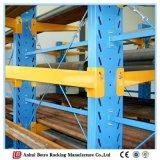 Estantes voladizos del estante del almacenaje del almacenaje del tubo de acero de la alta calidad