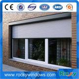 Felsiges Aluminiumschiebendes Schnittfenster mit Rollen-Blendenverschluß