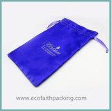 Подгонянный пурпуровый мешок пляжа сатинировки мешка сатинировки с большой емкостью