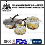 Fábrica de venta al por mayor rectos Shapped colado de hierro fundido de esmalte Casserole Pot