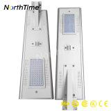 6W-120W 운동 측정기를 가진 재충전용 태양 강화된 LED 가로등